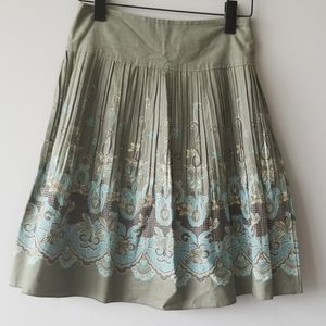 Stunning A-Line Skirt Pleated Floral Pleat